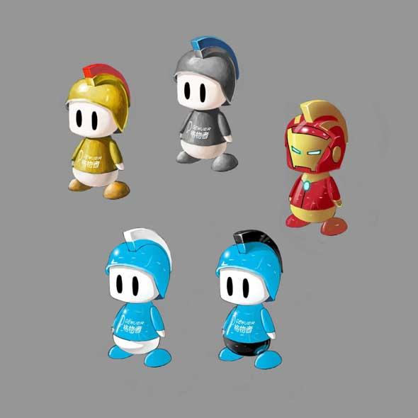 还有一个钢铁侠乱入版.    最后的配色我们选择了蓝头盔红穗.