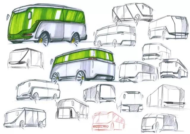 柏林概念公交手绘 & 座椅概念设计(2005)