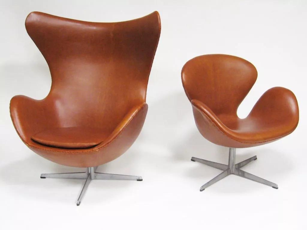 雅各布森不仅创作了蚂蚁椅      非常出名的代表作还有蛋椅和天鹅
